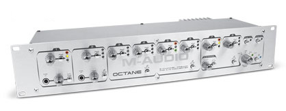 M-Audio Octane pre-amp supports 8 XLR mic inputs.