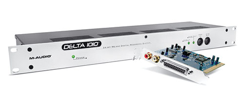 M-Audio Delta 1010 PCI card with included breakout box.