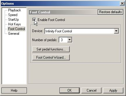 Use VEC USB Foot Control