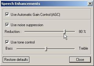 Speech Ehhancements Window