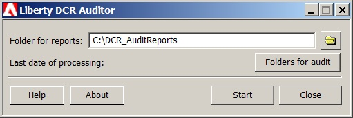 DCR Audit Report Program.