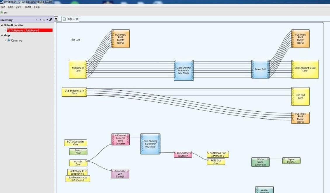 Q-SYS Core 110f Configuration